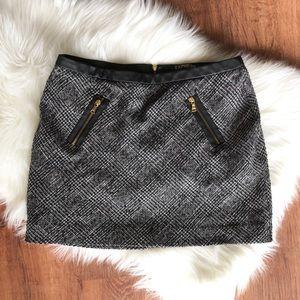 Dark Tweed Mini Skirt